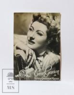 Old Cinema / Movie Photographic Trading Card - Actress Greer Garson - Metro Goldwyn Mayer - Otros