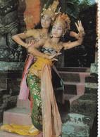 PART OF RAMAYANA BALLET. WOMAN DANCE FEMME DANSE. INDONESIE POSTALE CIRCULEE 1974 TO KOPENICK -LILHU - Indonésie