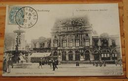 CHERBOURG  LE THEATRE ET FONTAINE MONCHEL - Cherbourg