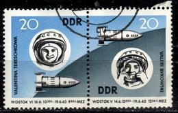 DDR+ 1963 Mi 970-71 Gruppenflug - Gebraucht