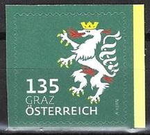 Österreich 2018, Nr. 3412, Heraldik, Graz, Postfrisch Mnh ** - 2011-... Nuovi & Linguelle