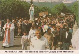 """ALFEDENA - PROCESSIONE VERSO IL """"CAMPO DELLA MADONNA"""" - FOLKLORE - ANIMATA - NON VIAGGIATA - Italie"""