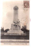 REF 489 :  CPA 02 BOHAIN Le Monument 21 Octobre 1923 - Francia