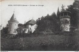 Ruffieux. Le Chateau De Collonge. - Ruffieux