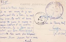 Sur Carte De La Baule  Cachet Croix Lorraine Secteur Postal Poste Aux Arméees 1945 - Marcophilie (Lettres)
