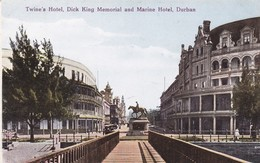 TWINE'S HOTEL, DICK KING MEMORIAL AND MARINE HOTEL, DURBAN. SUD AFRIQUE POSTALE CPA 1920's NON CIRCULEE -LILHU - Afrique Du Sud