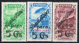 Tres Sellos Beneficencia 1941, CABO JUBY Colonia Española, Edifil Num 7-8-9 * - Cabo Juby