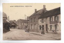 51 - FAVEROLLES  ( Marne ) -  Entrée Du Pays - Café De La Gare Jacquot. Voiture Ancienne. - France