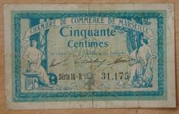 Marseille ( 13 ) 50 Centimes Chambre De Commerce 1914 - Chamber Of Commerce