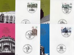750 Jahre Berlin 1987 DDR 3071/4 4x FDC 8€ Sonder-Briefe Architektur Hauptstadt Covers Set Architectur City Germany - Cartas