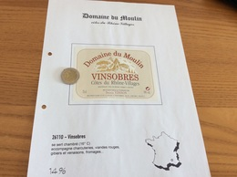 Étiquette Vin «Côtes Du Rhône Villages - VINSOBRES - Domaine Du Moulin - Denis Vinson- Vinsobres (26)» - Côtes Du Rhône