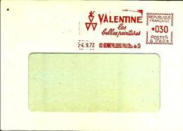 Lettre  EMA Havas C  1972 Valentine  Metier  Usine Industrie Peinture 92 Gennevilliers       C17/21 - Marcophilie (Lettres)