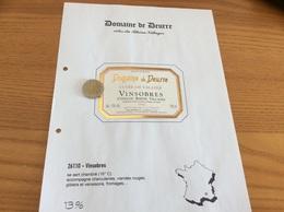 Étiquette Vin 1994«Côtes Du Rhône Villages - VINSOBRES -Domaine Du Deurre- CUVÉE JM -VALAYER JC Et Fils- Vinsobres (26)» - Côtes Du Rhône