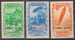 Sellos Beneficencia Historia Correo  1943, CABO JUBY Colonia Española, Edifil Num 13-14-17 * - Cape Juby