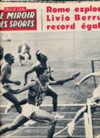 BUT ET CLUB LE MIROIR DES SPORTS N° 817 DU LUNDI 5 SEPTEMBRE 1960, JEUX OLYMPIQUES DE ROME, BERRUTI, SEYE... - Deportes