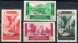 Sellos  Habilitados Paisajes 1935, CABO JUBY Colonia Española, Edifil Num 67-68-69-72 */º - Cape Juby