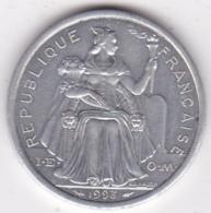 Polynésie Francaise . 2 Francs 1993, En Aluminium - Polynésie Française