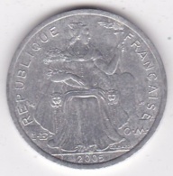 Polynésie Francaise . 2 Francs 2005, En Aluminium - Polynésie Française