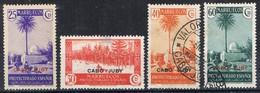 Sellos Varios Paisajes 1935, CABO JUBY Colonia Española, Edifil Num 79-80-81-83 */º - Cape Juby