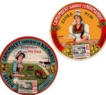 Camembert Grédig De Quinéville (Manche) - 2 étiquettes Neuves - Käse