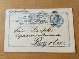 K9 USA Ganzsache Stationery Entier Postal Psc From Washington To Bogotá Colombia!!! - Interi Postali