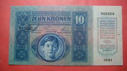 FIUME Italia Austria Hungary Croatia 10 Kronen ND 1918 (old Date 1915). Seal On Austria - [ 3] Militaire Uitgaven
