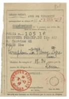 CHEQUES POSTAUX ROUEN  / 1947 / AVIS DE VIREMENT - Documents De La Poste
