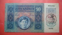 FIUME Italia Austria Hungary Croatia 10 Kronen ND 1918 (old Date 1915). Seal On Austria 2 - [ 3] Militaire Uitgaven