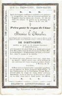 LEUVEN / LOUVAIN / KORBEEK-LO - Le Chevalier Maximilien De DIEUDONNE - Né 1840 Et Décédé 1863 - Images Religieuses