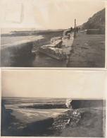 1-6--granville--50--digue Détruite Par La Tempete -veritable Carte Photos-année 1928-voir Recto Verso-livraison Gratuite - Granville