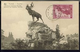 "Belgique - 1927 - Carte Maximum ""Courtrai Monument Des Canadiens 1914-18"" Timbre Caritas N° 253  - B/TB - - Maximum Cards"
