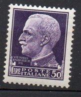 1929 Regno Imperiale N. 261  50 Lire Alto Valore Nuovo MLH* - 1900-44 Victor Emmanuel III.