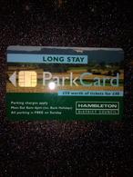 GB UK CARTE A PUCE CHIP CARD STATIONNEMENT PARKING HAMBLETON £50 NEUVE MINT - France