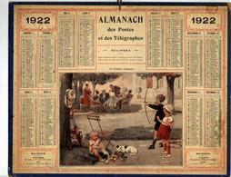 CALANDRIER - ALMANACH Des POSTES DE 1922 - Calendari