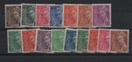 Série Complète Mercure 404/416A Neuve ** - 1938-42 Mercure