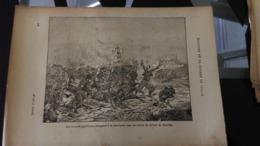 Affiche Dessin -  LES ZOUAVES PONTIFICAUX Chargeant à La Baïonnette Sous Les Ordres Du Colonel De Charette - Affiches