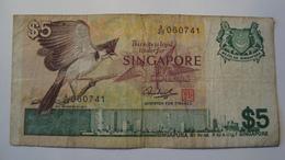 BILLET SINGAPOUR 5 DOLLARS 1976 - Singapore