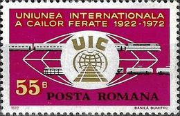 1972 - 50th ANNIVERSARY OF INTERNATIONAL RAILWAY UNION - Ungebraucht