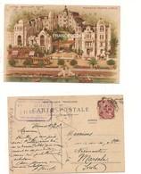 3393) MONACO PRINCIPATO MONTECARLO HOTEL PAVILLON DORE' Litho 1908 STAMP Card - Cartas