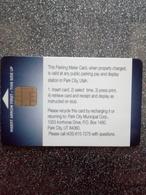 USA CARTE A PUCE CHIP CARD STATIONNEMENT PARKING PARK CITY UTAH NEUVE MINT - France