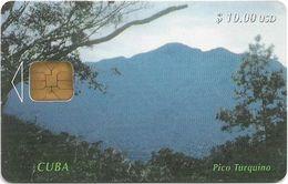 Cuba - Etecsa - The Turquino Peak - 1997, 10$, 40.000ex, Used - Cuba