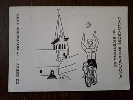 L27/642 DERCY - Cyclo Cross International Du Bicentenaire - 1er Novembre 1989 - Francia