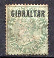 GIBRALTAR - (Colonie Britannique) - 1886 - N° 1 - 1/2 P. Vert - (Effigie De Victoria) - Gibraltar
