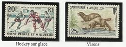 SAINT PIERRE ET MIQUELON SPM N° 360 Et 361 ** Neufs 1959 - St.Pierre Et Miquelon