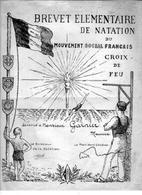 BREVET ELEMENTAIRE De NATATION Du Mouvement Social Français Croix De Feu Mr Garnier Maurice - Diploma & School Reports