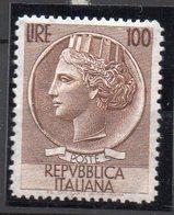 1955 Repubblica Siracusana Fil. Stelle 100 Lire N. 785 Nuovo MLH* Centrato - 6. 1946-.. Republik