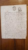 GENERALITE 1793 MONTPELLIER  DECES DE MARIE ANNE OLIVE FABRE A BEZIERS 2 SOLS 4 DENIERS LA LOI LE ROI - Gebührenstempel, Impoststempel