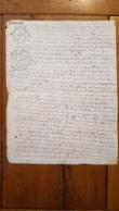 GENERALITE 1746 MOULINS 10 DENIERS - Gebührenstempel, Impoststempel