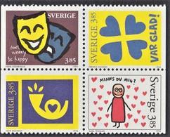 SVEZIA 1996 FRANCOBOLLI AUGURALI   UNIFICATO N.1941/44 BLOCCO  MNH - Sweden