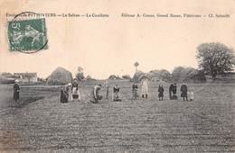 ►ENVIRONS PITHIVIERS◄(45)◄CPA► 19 JUILLET 1909►LE SAFRAN◄►LA CUEILLETTE►ÉDIT. A. CONAC, GRAND BAZAR - Pithiviers